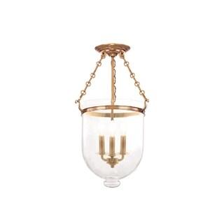 Hudson Valley Hampton 3-light 21 inch Semi Flush, Brass