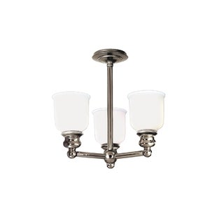 Hudson Valley Riverton 3-light Semi Flush, Polished Nickel
