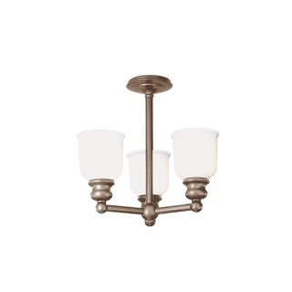 Hudson Valley Riverton 3-light Semi Flush, Antique Nickel
