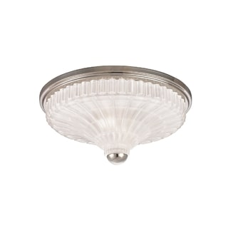 Hudson Valley Paris 2-light Flush Mount, Polished Nickel