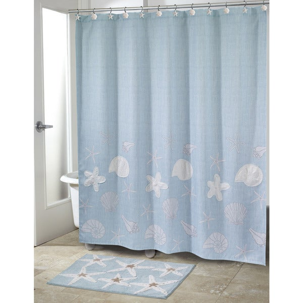 Sequin Shells Shower Curtain