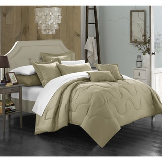 Chic Home Direllei Taupe Down Alternative 7-piece Comforter Set