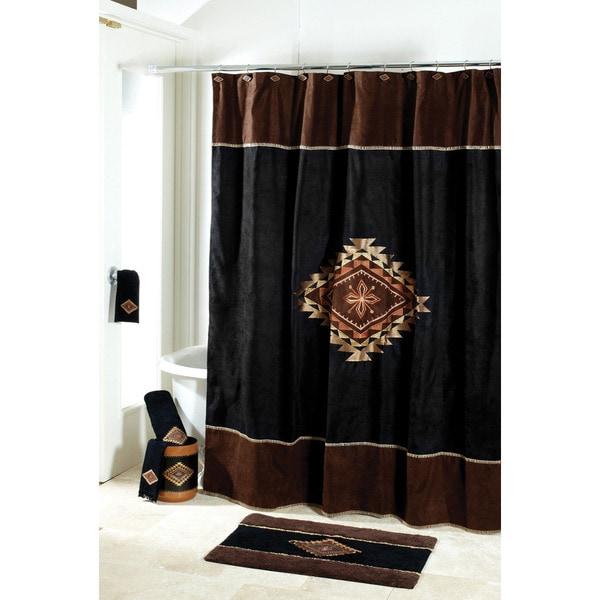 Mojave Desert Style Motif Shower Curtain