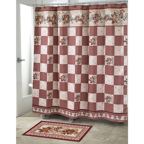 Shop Hearts Stars Shower Curtain