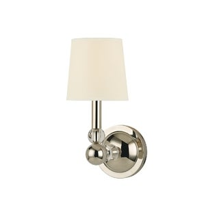 Hudson Valley Danville Wall Sconce, Polished Nickel / Cream