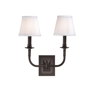 Hudson Valley Lombard 2-light Wall Sconce, Old Bronze