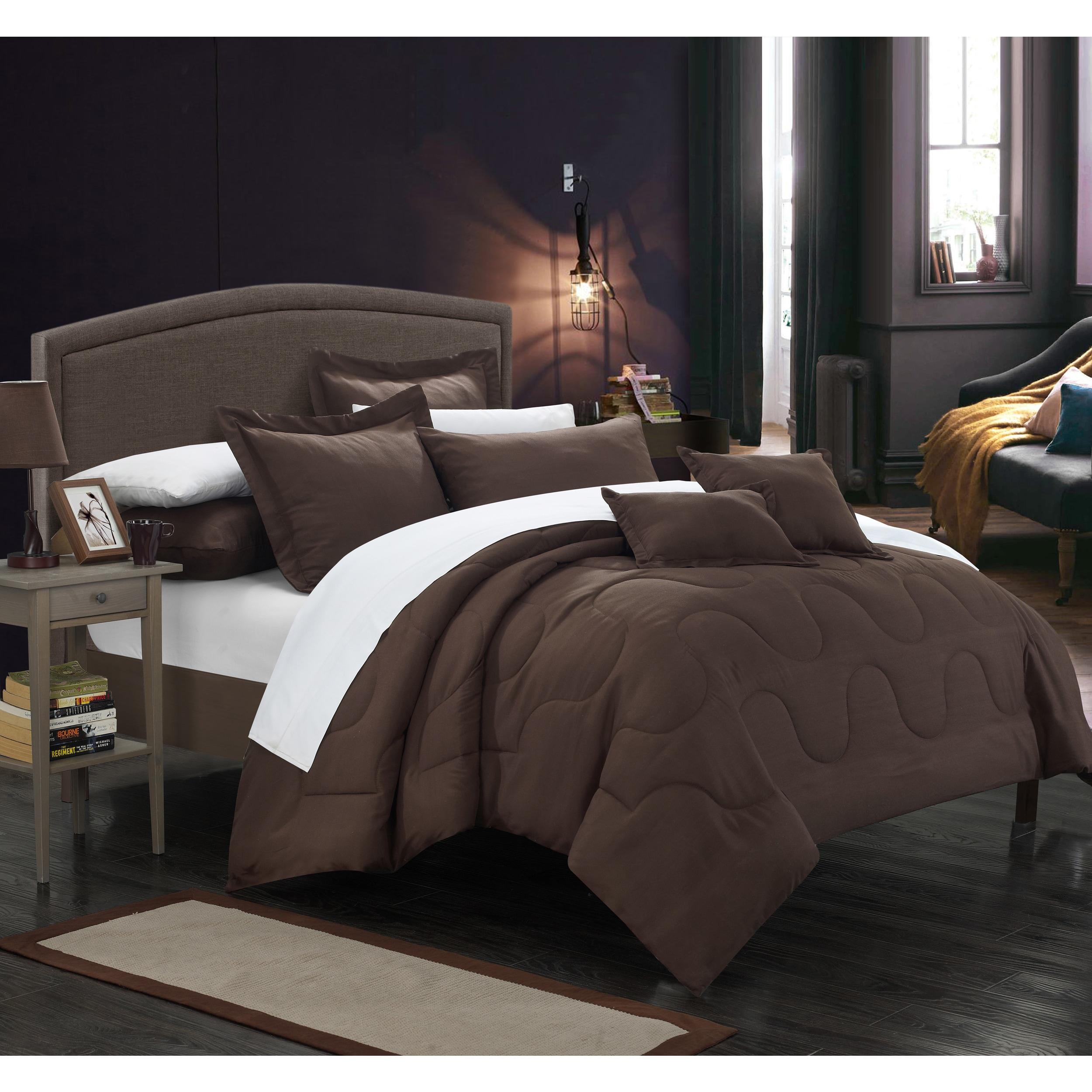 Chic Home Direllei Brown Down Alternative 7-piece Comforter Set