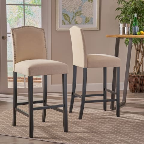 Logan 30-inch Fabric Backed Barstool by Christopher Knight Home (Set of 2)