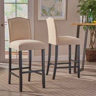 Logan 30 Inch Fabric Backed Barstool By Christopher Knight Home Set Of 2