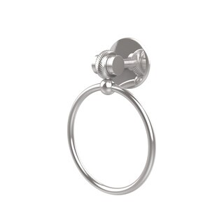 Allied Brass Satellite Orbit Two Collection Towel Ring with Twist Accent