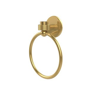Allied Brass Satellite Orbit One Collection Towel Ring with Groovy Accent