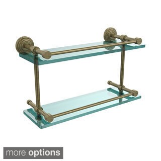 Waverly Place 16-inch Double Glass Shelf with Gallery Rail