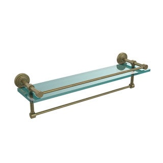 22-inch Gallery Glass Shelf with Towel Bar