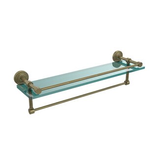 "22-inch Gallery Glass Shelf with Towel Bar - 5""H x 22""L x 5""D"