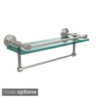 Waverly Place 16-inch Gallery Glass Shelf with Towel Bar