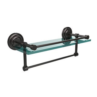 Que New Collection 16-inch Gallery Glass Shelf with Towel Bar