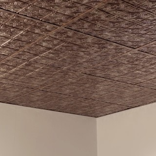 Fasade Traditional Style #1 Bermuda Bronze 2-foot x 2-foot Lay-in Ceiling Tile
