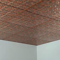 Fasade Traditional Style #1 Copper Fantasy 2-foot x 2-foot Lay-in Ceiling Tile
