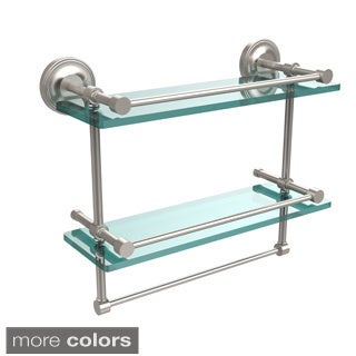 Gallery Double Glass Shelf with Towel Bar (More options available)
