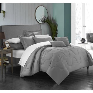 Porch & Den Rhode Island Silver Down Alternative 7-piece Comforter Set