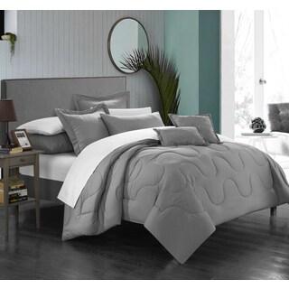 Chic Home Direllei Silver Down Alternative 7-piece Comforter Set