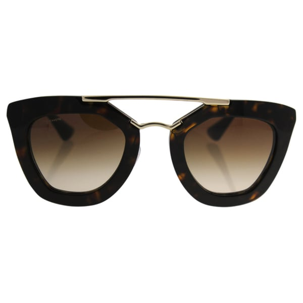 573c732178 Shop Prada Women s Cinema PR 09QS 2AU6S1 Havana Cat Eye Sunglasses ...
