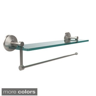 Allied Brass Prestige Monte Carlo Collection Paper Towel Holder with 16-inch Glass Shelf