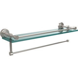 Allied Brass Dottingham Collection Paper Towel Holder with 22-inch Gallery Glass Shelf