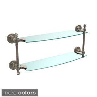 Retro Dot Collection 18-inch 2-tiered Glass Shelf