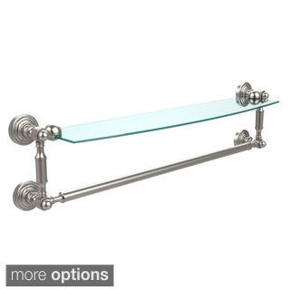 Waverly Place Collection 24-inch Glass Vanity Shelf with Integrated Towel Bar