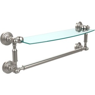 Waverly Place Collection 18-inch Glass Vanity Shelf with Integrated Towel Bar