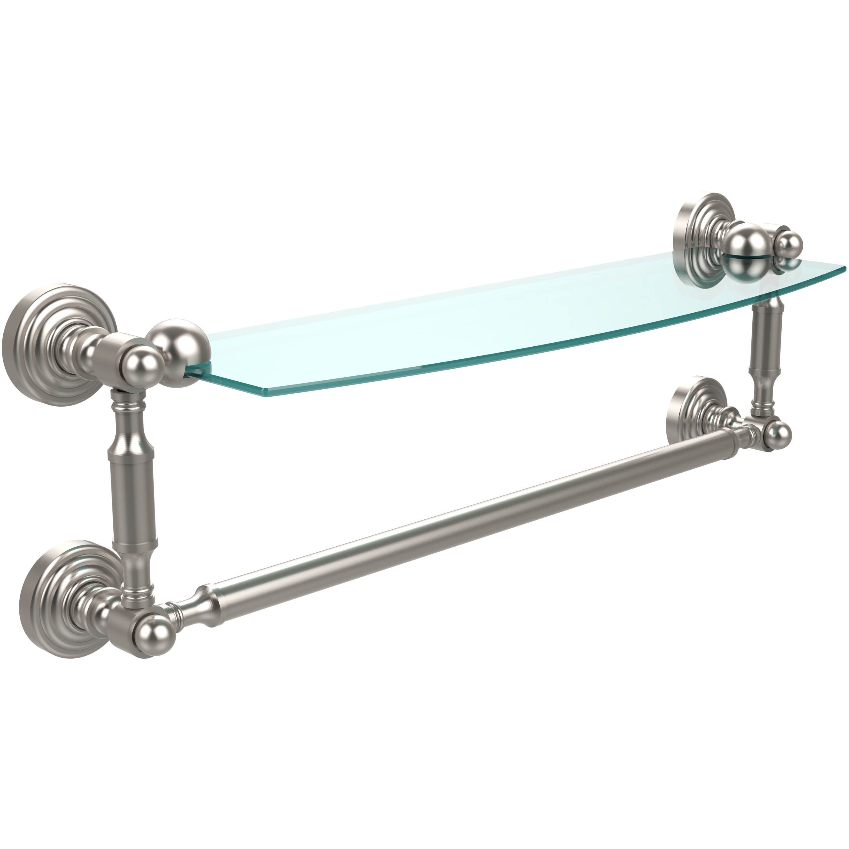 Waverly Place Collection 18 Inch Glass Vanity Shelf With