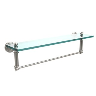 Waverly Place Collection 22-inch Glass Vanity Shelf and Integrated Towel Bar