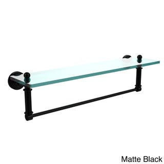 Waverly Place Collection 22-inch Glass Vanity Shelf and Integrated Towel Bar (Option: Matte Black)