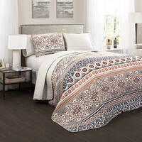 The Curated Nomad La Boheme Boho Stripe 3-piece Quilt Set