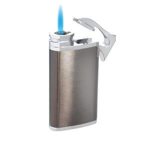 Visol Iceman Single Jet Flame Cigar Lighter - Gunmetal - Ships Degassed