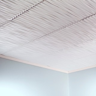Fasade Dunes Horizontal Matte White 2-foot x 2-foot Glue-up Ceiling Tile