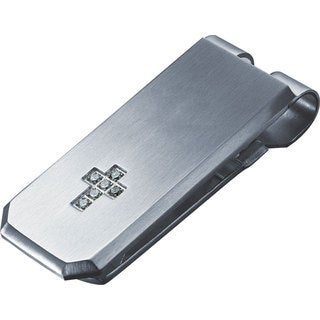 Visol Cross Crystal Cross Money Clip