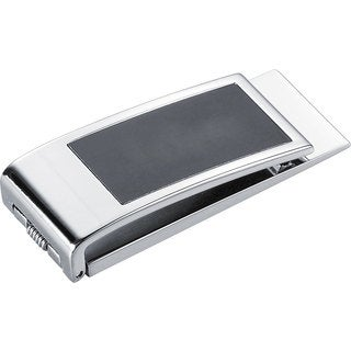 Visol Marcus Stainless Steel & Black Matte Money Clip