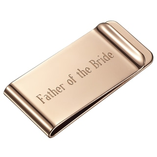 Visol Father of the Bride Personalized Rose Gold Money Clip