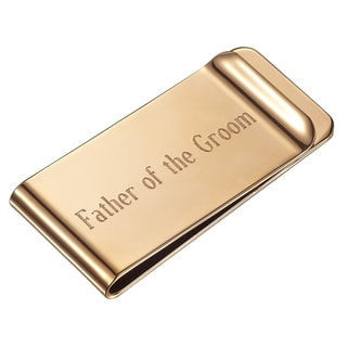 Visol Father of the Groom Personalized Rose Gold Money Clip