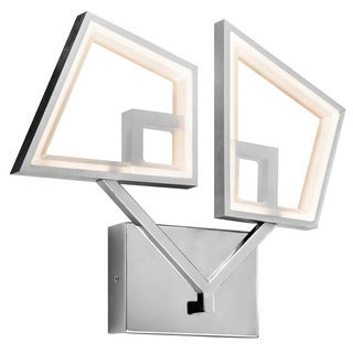 Kichler Lighting Contemporary 2-light Chrome and Brushed Nickel Wall Sconce