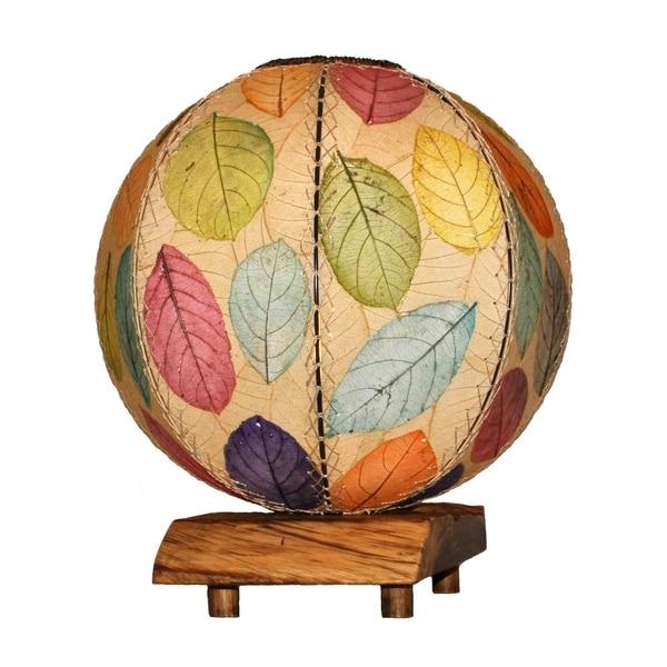 Handmade Driftwood Orb Table Lamp