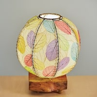 Handmade Eangee Driftwood Orb Table Lamp (Philippines)