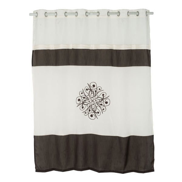 Windsor Home DuBois Embroidered Shower Curtain with Grommets