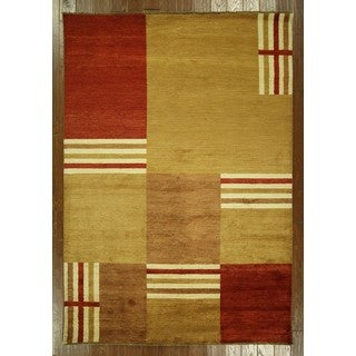 Modern Collection Multicolor Super Gabbeh Hand-knotted Wool Area Rug (5'9 x 8'4)