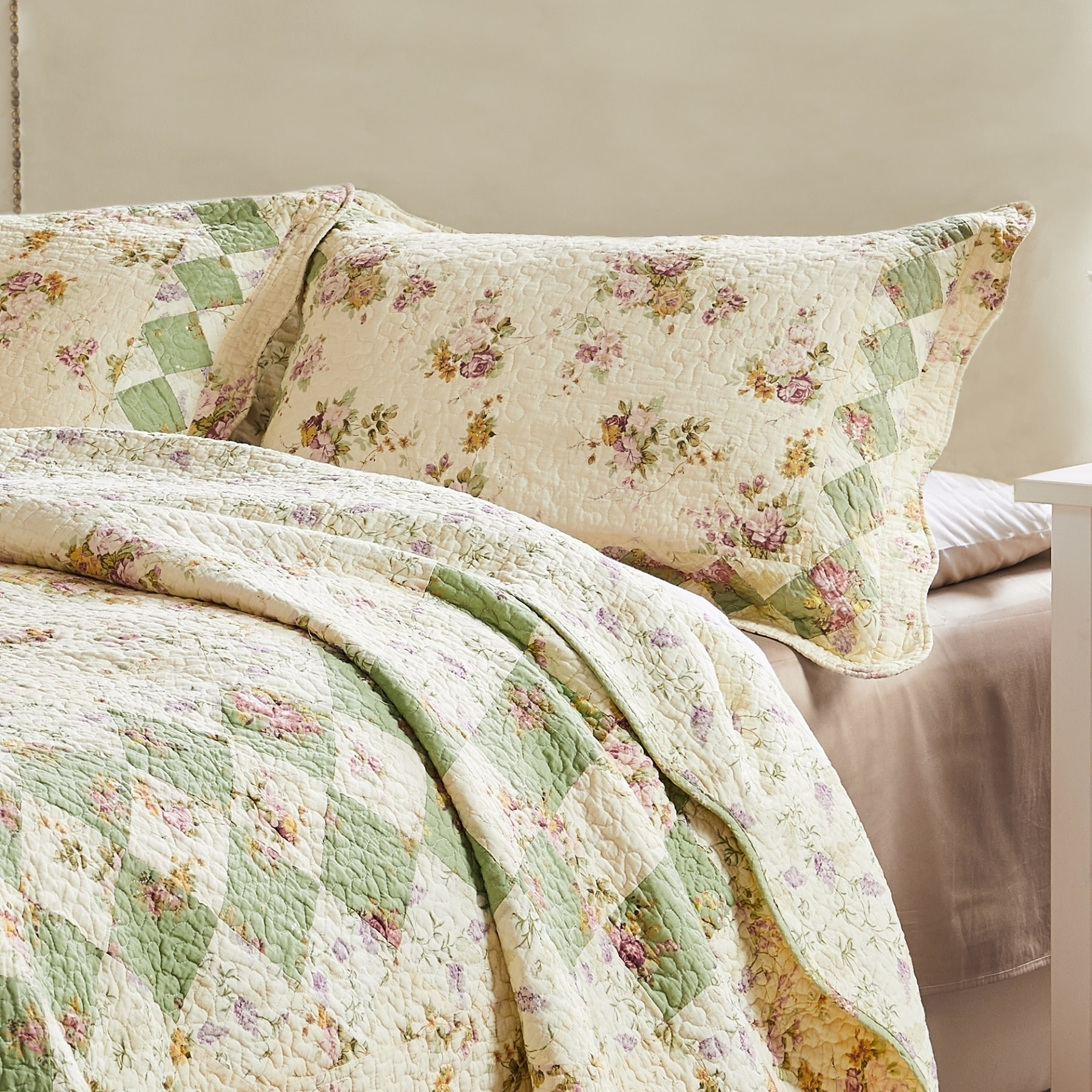 Shop Greenland Home Fashions Bliss King Sized Pillow Shams Set Of