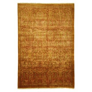 Oushak Collection Rusty Red Hand-knotted Wool Chobi Quality Area Rug (6'0 x 9'0)