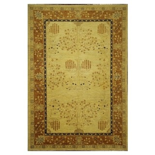 Unique Tree Of Life Oushak Collection Hand-knotted Wool Chobi Area Rug (6'3 x 8'10)