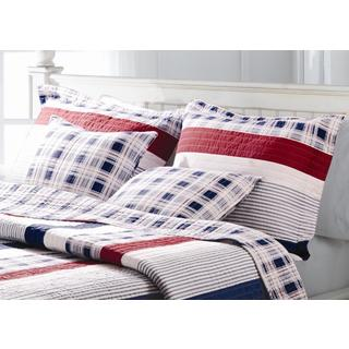 Greenland Home Fashions Nautical Stripe King Sized Pillow Shams (Set of Two)